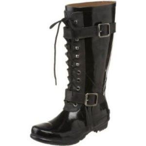 BCBG Lace Up Willis Rain Boots